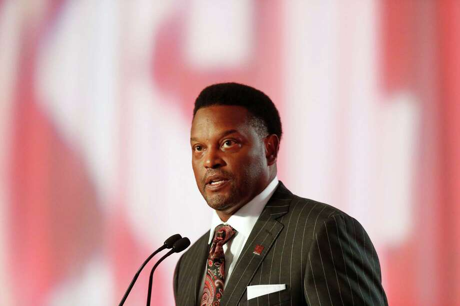 Texas A&M coach Kevin Sumlin speaks to the media at the Southeastern Conference NCAA college football media days, Tuesday, July 12, 2016, in Hoover, Ala. (AP Photo/Brynn Anderson) Photo: Brynn Anderson, Associated Press / AP