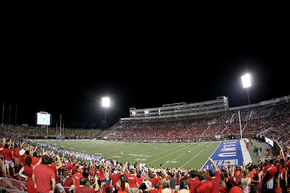 Gerald J. Ford Stadium SMU football Gerald J. Ford, a banker and school trustee, donated more than $20 million to SMU for the football stadium and another $15 million for the university's Gerald J. Ford Research Center.