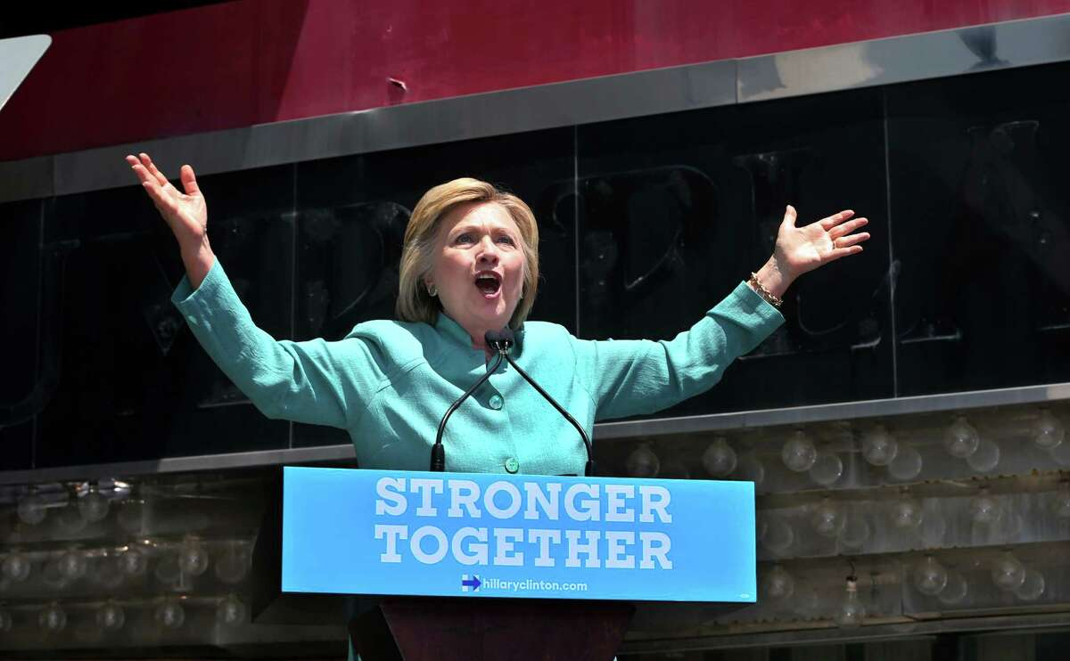 Democratic presidential candidate Hillary Clinton speaks in Atlantic City, N.J., near one of Donald Trump's old casino-hotels. She blasted the GOP presidential candidate for his failed business ventures in the seaside resort. A reader condemns her for her own failures.