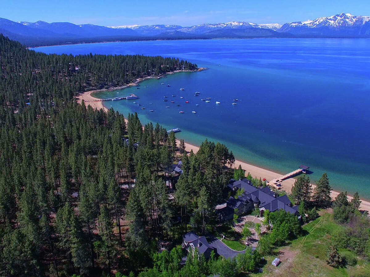 This lakefront Tahoe estate featured on 'Bonanza' hit the market for $59 million in 2016 and is now listed for $47 million. It