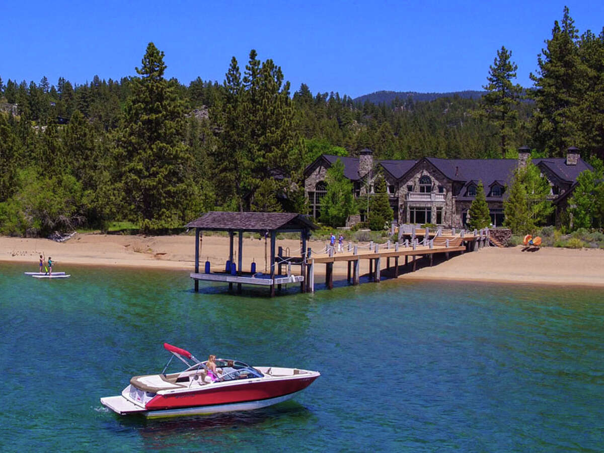 Bourne's son Stephen inherited the property and the buyer was a childhood friend who grew up spending summers with the family in Tahoe. The original Bourne home no longer exists as the sellers tore it down after buying the estate in 2002 and built the new lodge in 20o4 - but the buyer's connection to the land and stunning scenery remained.