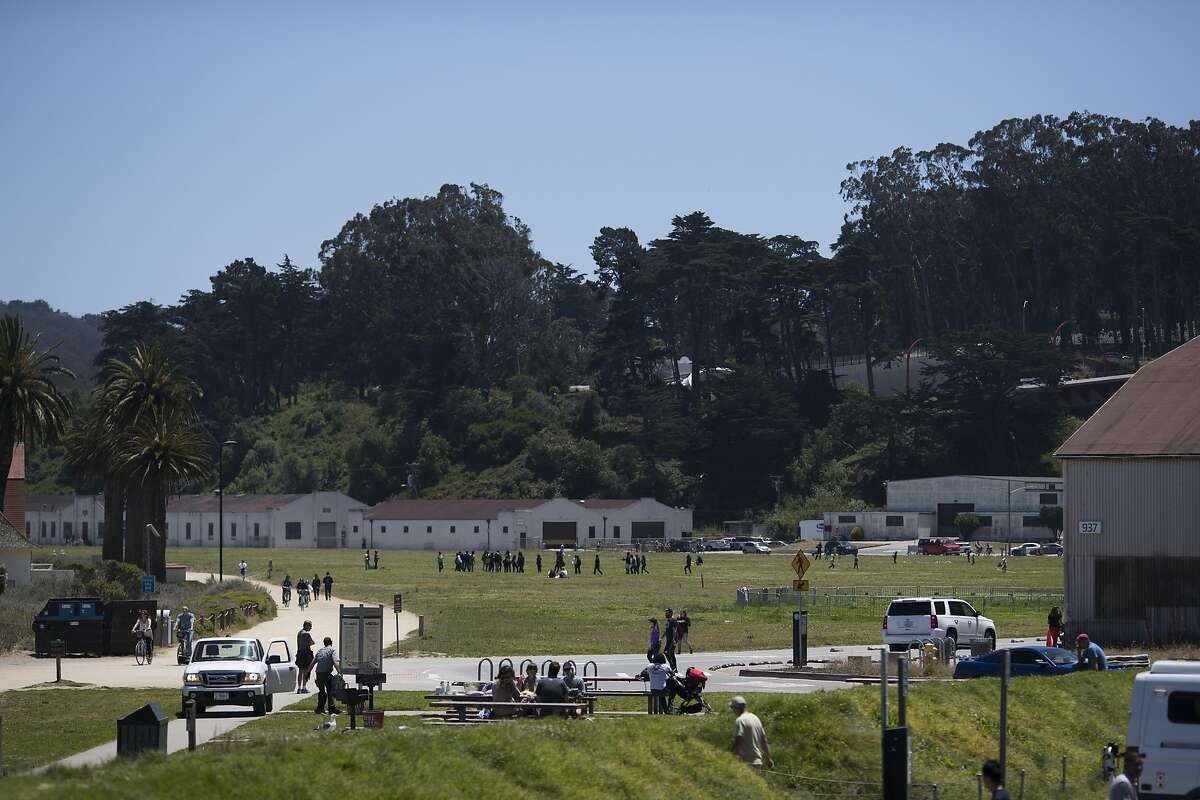 A general view of Crissy Field at the Presidio in San Francisco, Calif. on Tuesday, July 12, 2016.
