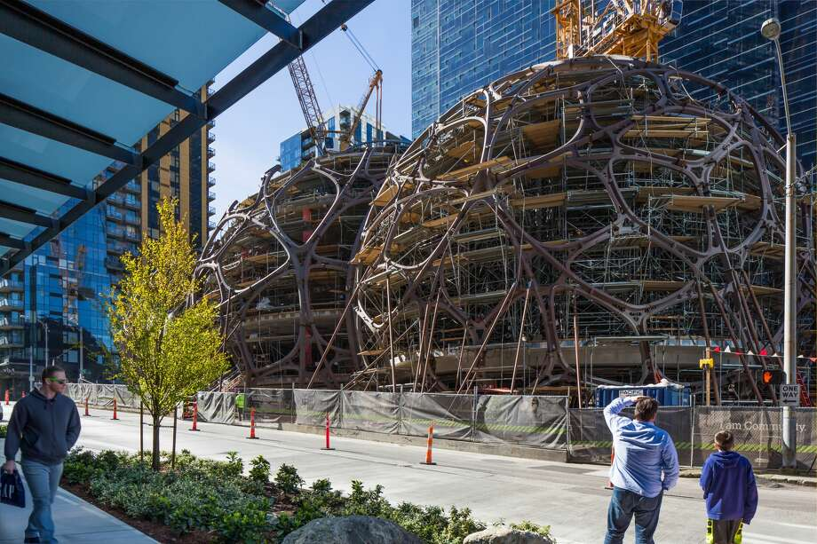 These spheres are currently under construction in downtown Seattle, where Amazon will have parts of its headquarters. Photo: Courtesy/NBBJ