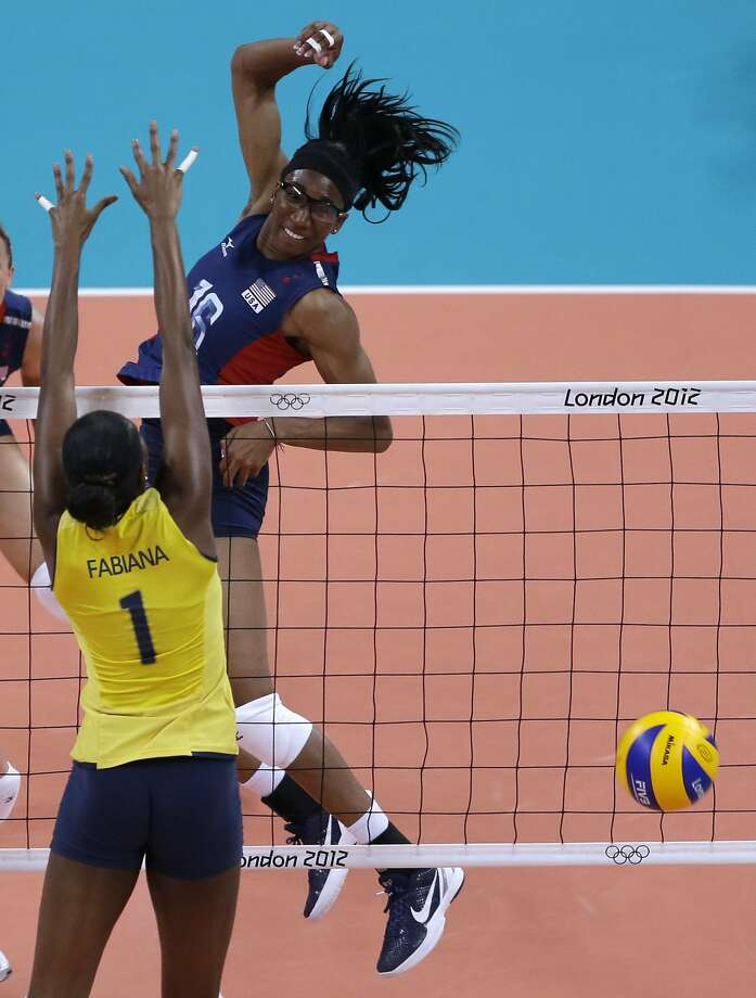 Former Stanford star Foluke Akinradewo, helped the U.S. to a silver medal in the 2012 Games but is still looking for gold. Photo: Jeff Roberson, Associated Press
