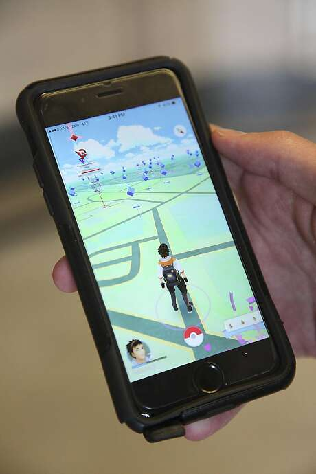 A view of Pokemon GO on cellphone. Photo: Juanito M Garza, San Antonio Express-News