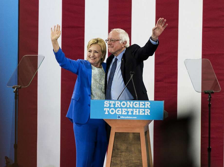 Hillary Clinton may see some improvement in the pools now that Bernie Sanders finally endorses her. Photo: Ian Thomas Jansen-Lonquist, Bloomberg