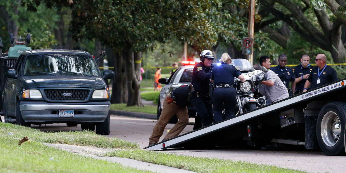 A Bellaire Police Department motorcycle officer died in a crash in southwest Houston Tuesday. Houston Police Department spokesman Kese Smith said a Bellaire officer was involved in a crash in the 8500 block of Ferris about 1:30 p.m. The accident location is between Chimney Rock and South Rice Avenue, near Beechnut. Tuesday, July 12, 2016, in Houston.