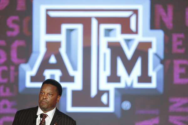 Texas A&M coach Kevin Sumlin speaks to the media at the Southeastern Conference NCAA college football media days, Tuesday, July 12, 2016, in Hoover, Ala. (AP Photo/Brynn Anderson)
