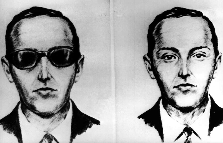 """FILE--This undated artist' sketch shows the skyjacker known as D.B. Cooper from recollections of the passengers and crew of a Northwest Airlines jet he hijacked between Portland and Seattle on Thanksgiving eve in 1971. The FBI says it's no longer actively investigating the unsolved mystery of D.B. Cooper. The bureau announced it's """"exhaustively reviewed all credible leads"""" during its 45-year investigation. (AP-Photo, file) Photo: HOGP / AP1971"""