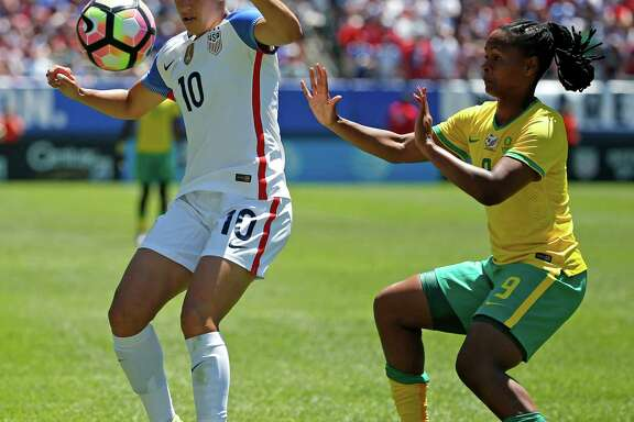 Carli Lloyd, left, saw her first action since April in a friendly against South Africa last week.