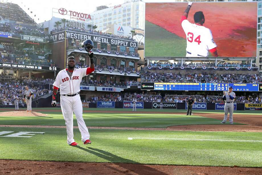 David Ortiz, the Boston Red Sox's future Hall of Famer, made only two plate appearances in Tuesday's game in San Diego. Photo: Sean M. Haffey, Getty Images