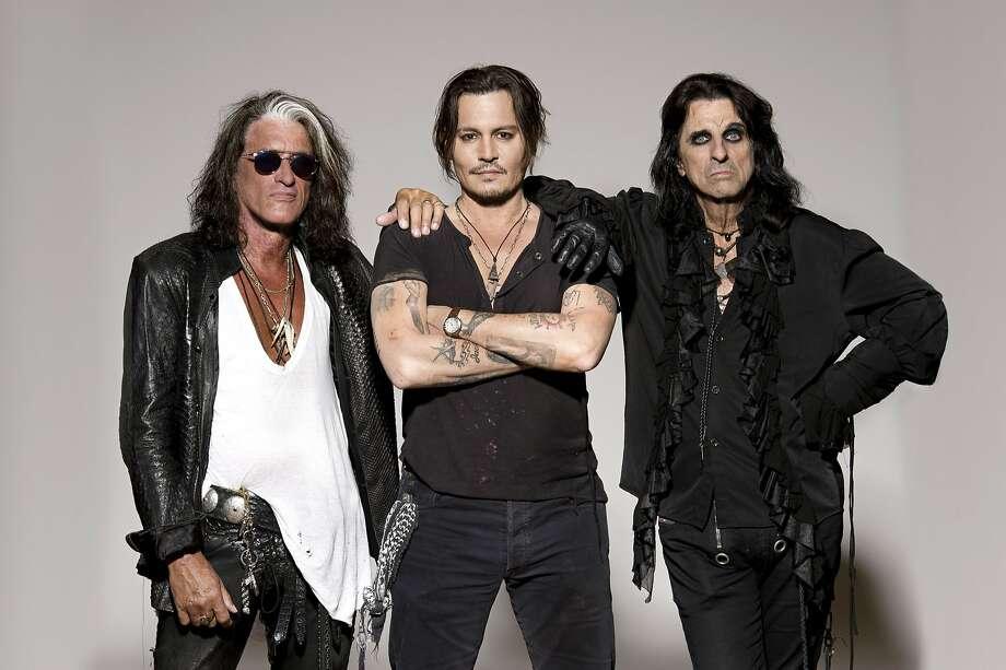 Hollywood Vampires: Joe Perry, Johnny Depp, Alice Cooper Photo: Ross Halfin