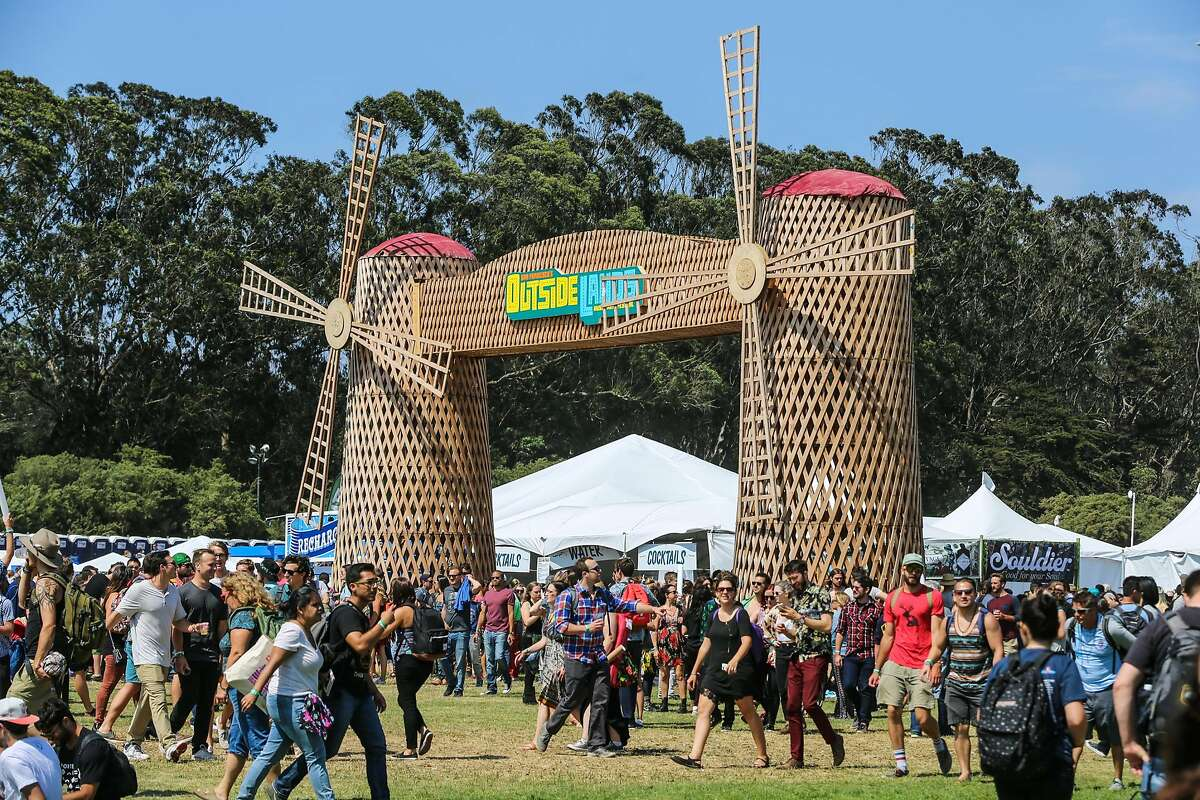 People attend the Outside Lands Music Festival at Golden Gate Park on Friday, Aug. 7, 2015, in San Francisco, Calif. (Photo by Rich Fury/Invision/AP)