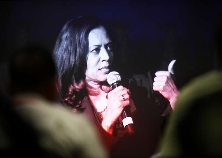 California Attorney General and U.S. Senate candidate Kamala Harris answers questions during a town hall on Tuesday, July 12, 2016 in Oakland, California.