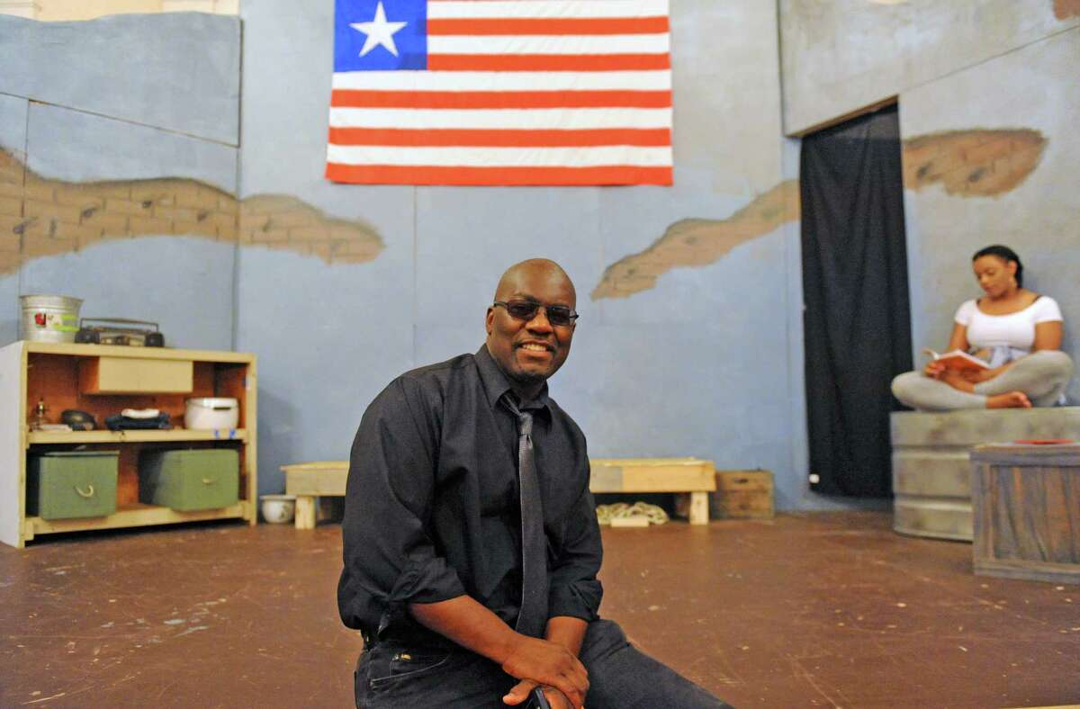 Dirctor Jean remy Monnay during rehearsal for the play