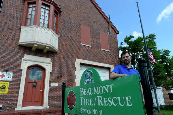 Richard Phillips is under contract to buy the City of Beaumont's historic fire-rescue station 11.  Phillips plans to turn it into his residence once the firefighters move to their new station.  Photo taken Tuesday 7/12/16 Ryan Pelham/The Enterprise