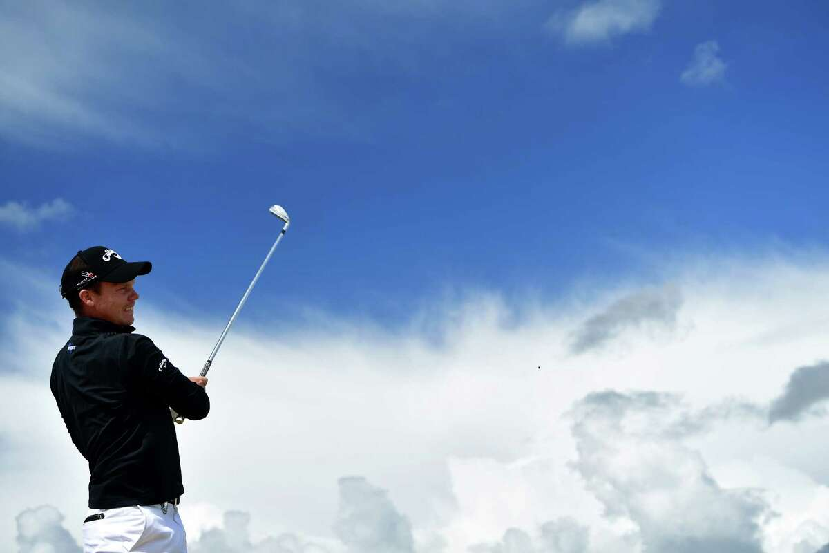 TROON, SCOTLAND - JULY 13: Danny Willett of England hits a tee shot during a practice round ahead of the 145th Open Championship at Royal Troon on July 13, 2016 in Troon, Scotland.