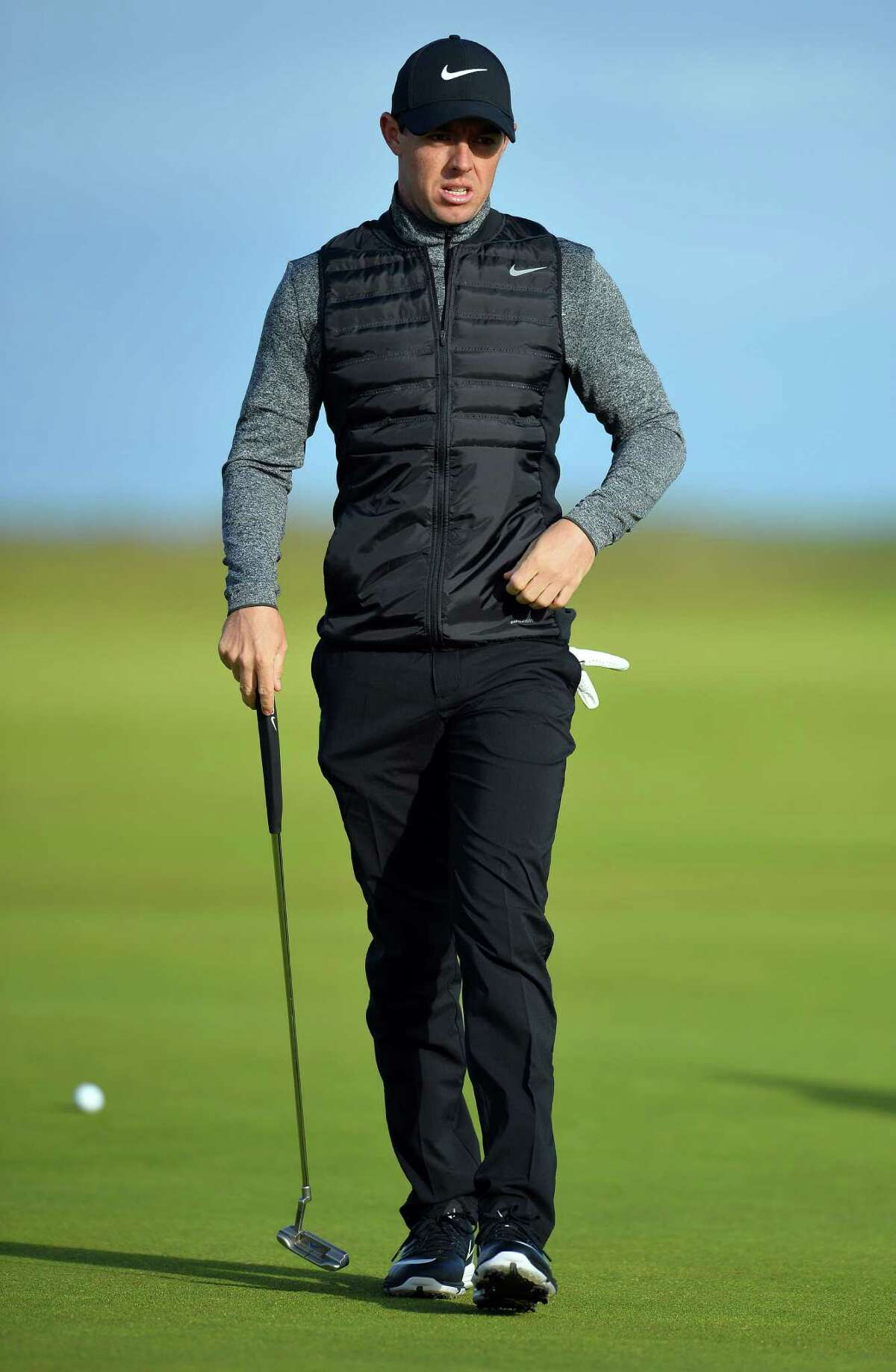Northern Ireland's Rory McIlroy on the 2nd Green during practice on July 13, 2016, ahead of the 2016 British Open Golf Championship at Royal Troon in Scotland. Treacherous and unfamiliar challenges lie in wait as the British Open returns to Royal Troon this week and Rory McIlroy returns to the hunt for the Claret Jug. / AFP PHOTO / GLYN KIRK / RESTRICTED TO EDITORIAL USEGLYN KIRK/AFP/Getty Images