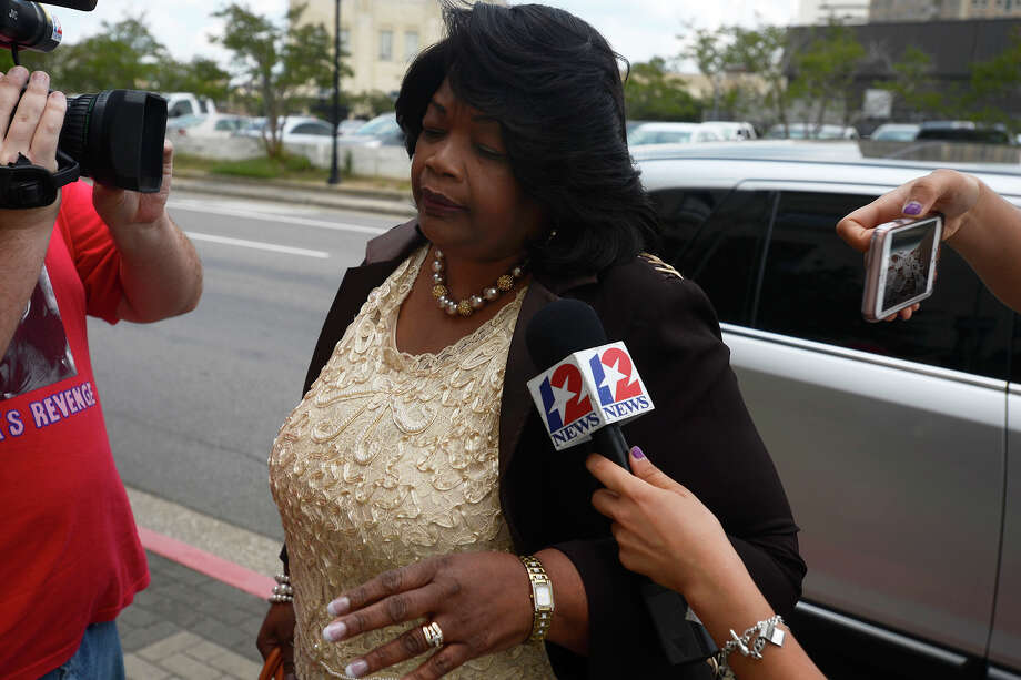 Former Central High School principal Patricia Lambert enters the courthouse to be sentenced on Wednesday afternoon.  Photo taken Wednesday 6/8/16 Ryan Pelham/The Enterprise Photo: Ryan Pelham / ©2016 The Beaumont Enterprise/Ryan Pelham