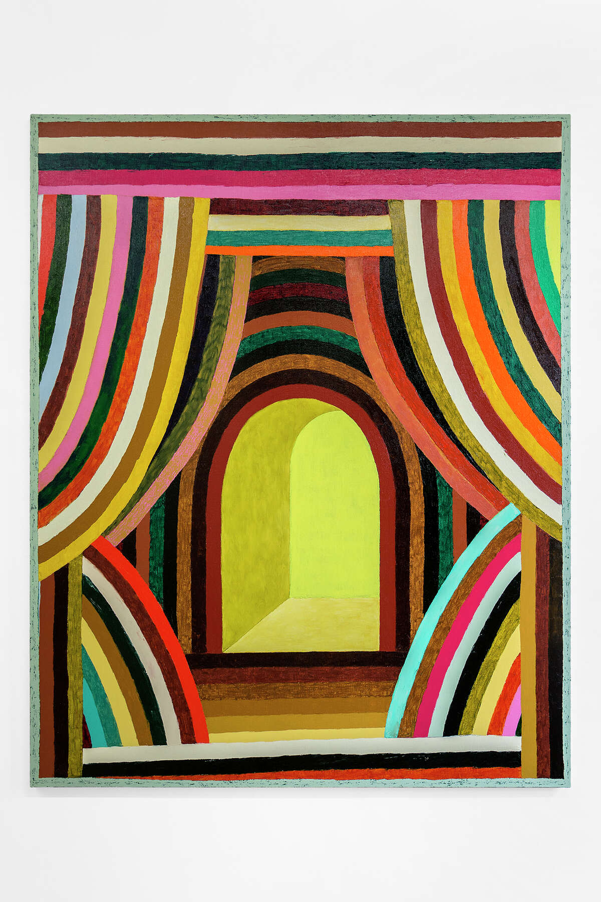 """""""Caterwaler"""" is among paintings by Matt Kleberg on view at Hiram Butler Gallery July9-Aug. 27."""