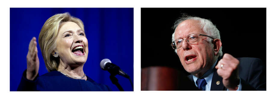 Democratic Presidential Candidates Hillary Clinton and Bernie Sanders. Photo: AP Photos