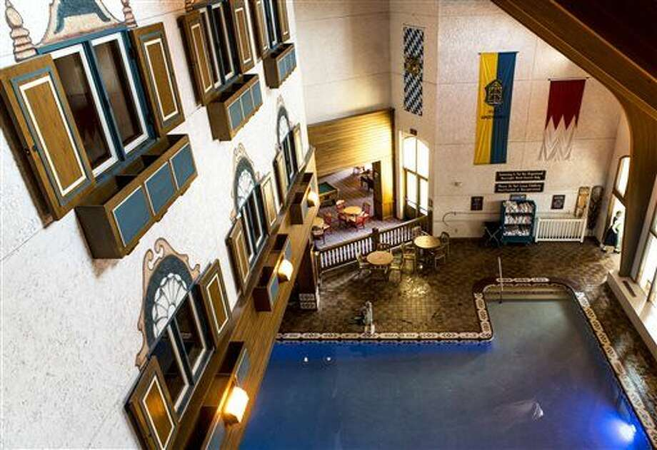 "This Feb. 23, 2016 photo shows one half of the kids' indoor pool is visible from room windows inside the Frankenmuth Bavarian Inn in Frankenmuth, Mich. The lodge, one of the anchor attractions in Frankenmuth ""Little Bavaria,"" celebrates its 30th year in business in 2016 and has served as an overnight stopping point for millions of guests since then. (Jacob Hamilton/The Saginaw News via AP)  Photo: Jacob Hamilton"