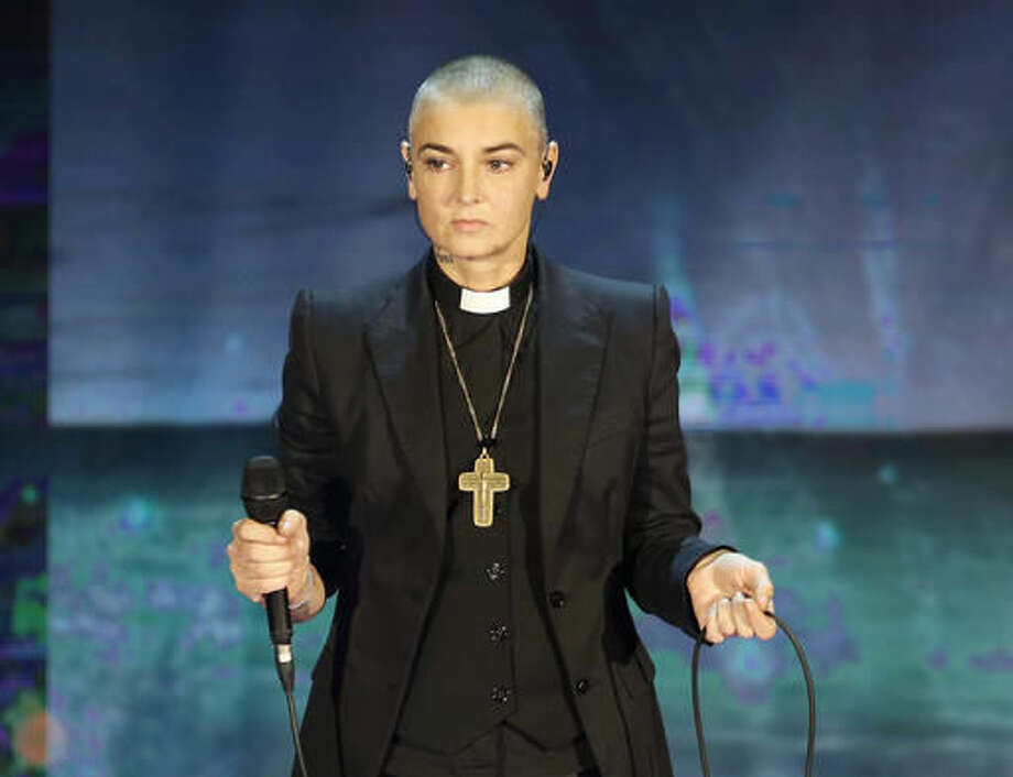 """Irish singer Sinead O'Connor performs during the Italian State RAI TV program """"Che Tempo che Fa"""", in Milan, Italy.Police in suburban Chicago said Irish singer-songwriter Sinead O'Connor was found safe Monday after officers received a report that she never returned from a Sunday bike ride in the area. Photo: Antonio Calanni 