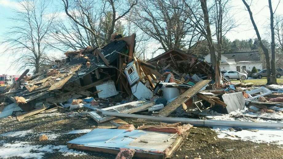 Six people — one adult and five children — were hurt when a home in Saginaw County's Richland Township exploded Friday afternoon. Photo: Provided By The Michigan State Police