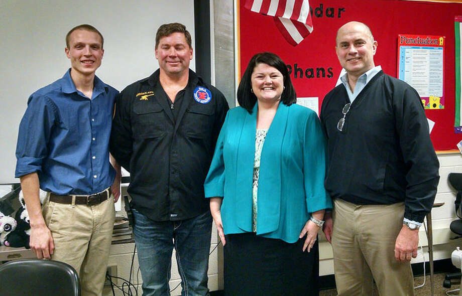 Pictured are, from left, Steve Drake,Phil Sheridan,Dawn Moulthrop and state Rep. Gary Glenn. Photo: Photo Provided
