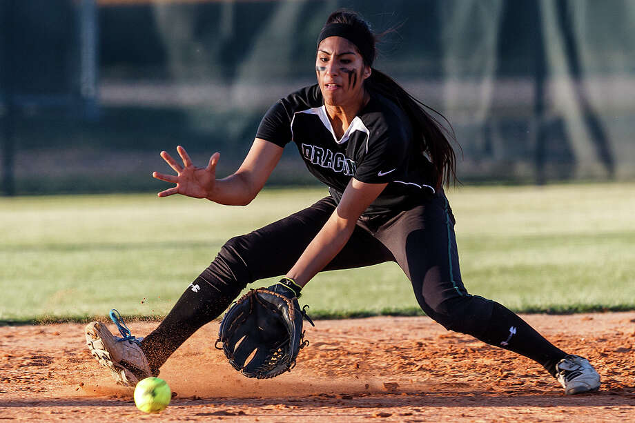 Miranda Medina, shown playing for Southwest in 2013, is a senior playing shortstop at St. Mary's University. Photo: Express-News File Photos / Express-News 2013