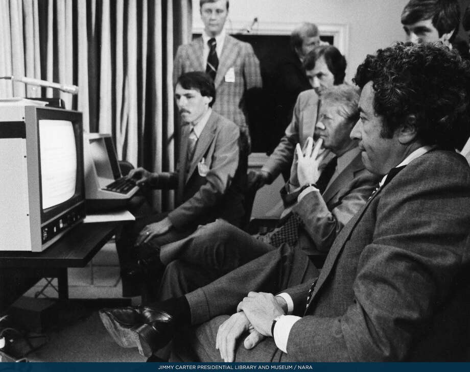 In 1978, President Carter oversaw the installation of new computer technologies in the West Wing. Photo: The White House Historical Association