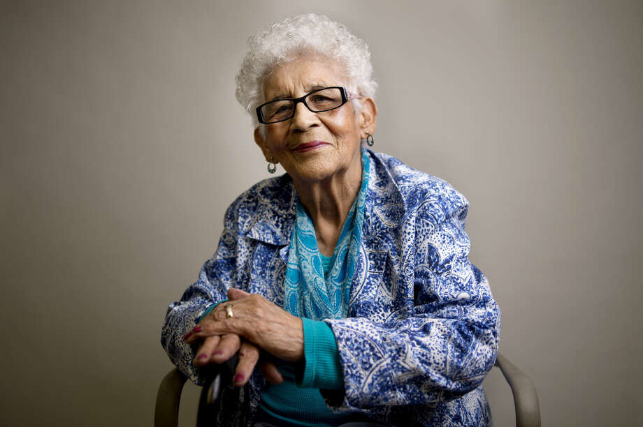 BRITTNEY LOHMILLER | blohmiller@mdn.net Petra Ramirez, 91, of Midland Photo: Brittney Lohmiller/Midland Daily News