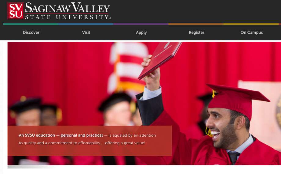 Saginaw Valley State University screen shot