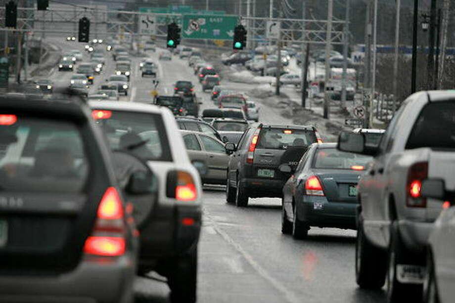 Rush hour traffic Burlington, Vermont. Photo: Associated Press File Photo