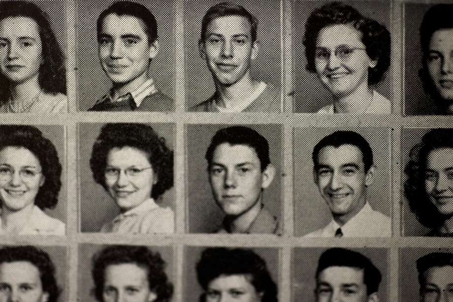 Thomas Railling, top center, poses for a picture in Midland High's 1944 yearbook. Railling didn't finish high school before he enlisted and died in the Korean War. Thomas Railling was captured during the Korean War and interned as a Prisoner of War. He is listed as Missing in Action, and his remains have never been recovered. Photo: Erin Kirkland/Midland Daily News