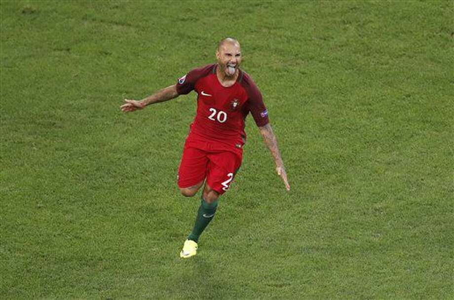 Portugal's Ricardo Quaresma celebrates after scoring the decisive penalty during the Euro 2016 quarterfinal soccer match between Poland and Portugal, at the Velodrome stadium in Marseille, France, Thursday, June 30, 2016. Portugal won 5-3 in a penalty shootout. (AP Photo/Michael Sohn) Photo: Michael Sohn