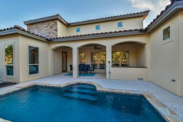 The Dominion • From the $490s • Garden homes • Numerous floor plans and options • Exquisite community center, pool and golf course • Convenient access to Interstate 10