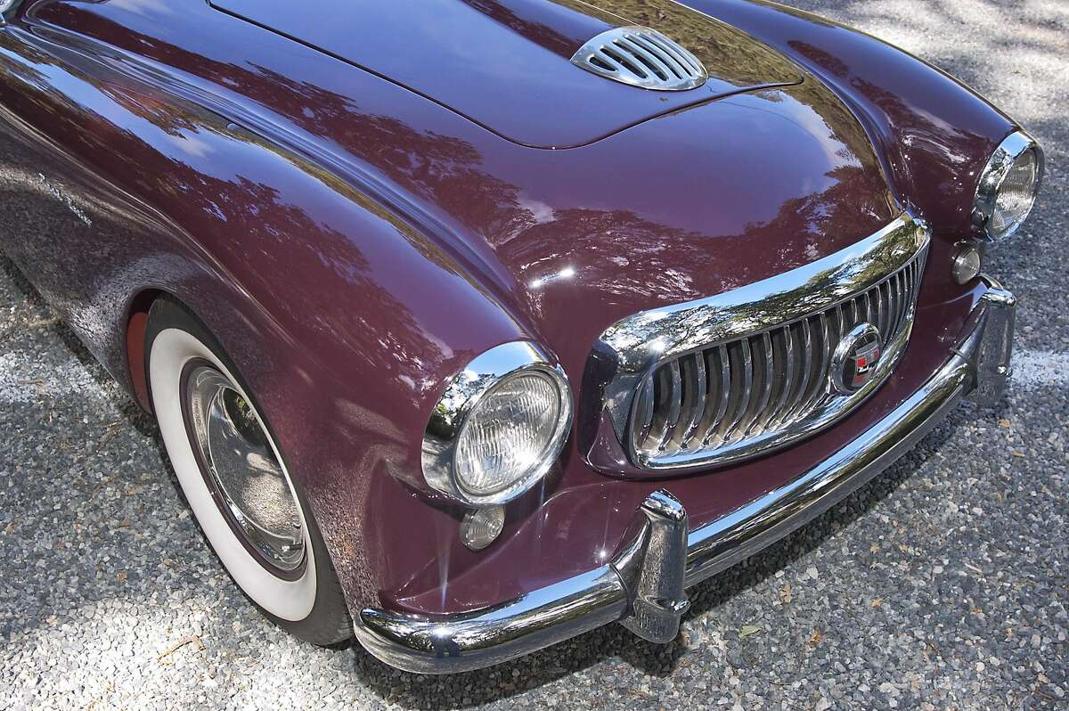 Photos of Michael Ambrosini and his 1951 Nash Healey Roadster photographed at Deer Park Villa in Fairfax, CA on June 7, 2016.