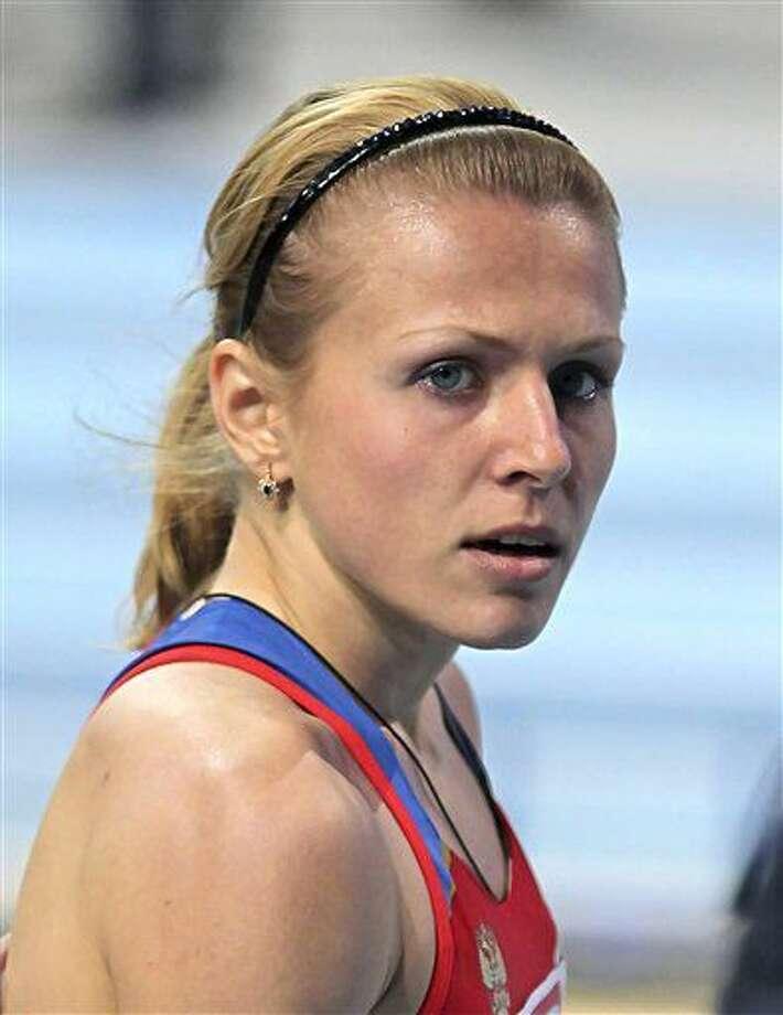 La atleta rusa Yulia Stepanova posa en un sitio no identificado el 4 de marzo de 2011. (AP Photo/Aleksander Chernykh, File) Photo: Aleksander Chernykh