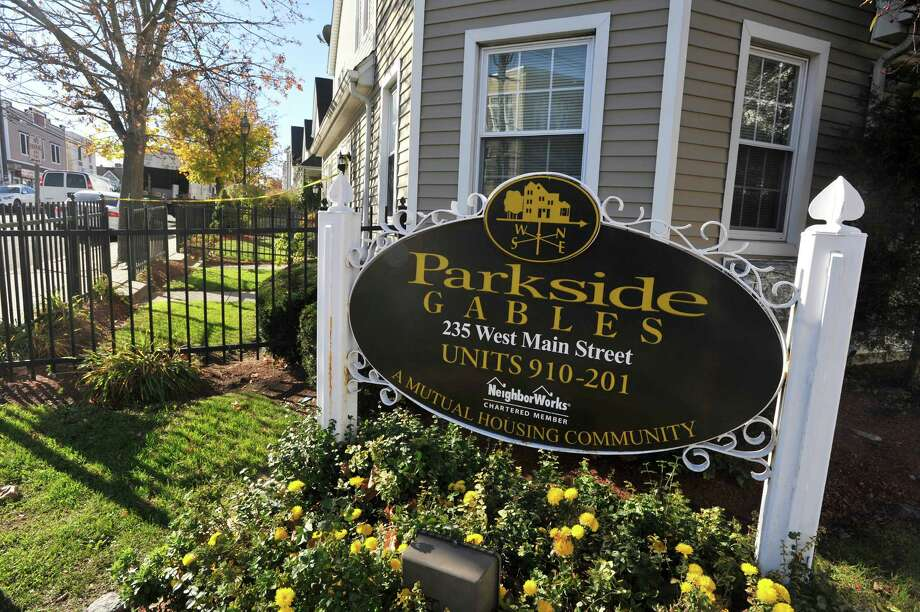 The Parkside Gables housing community on West Main Street. Photo: Michael Cummo / Hearst Connecticut Media / Stamford Advocate