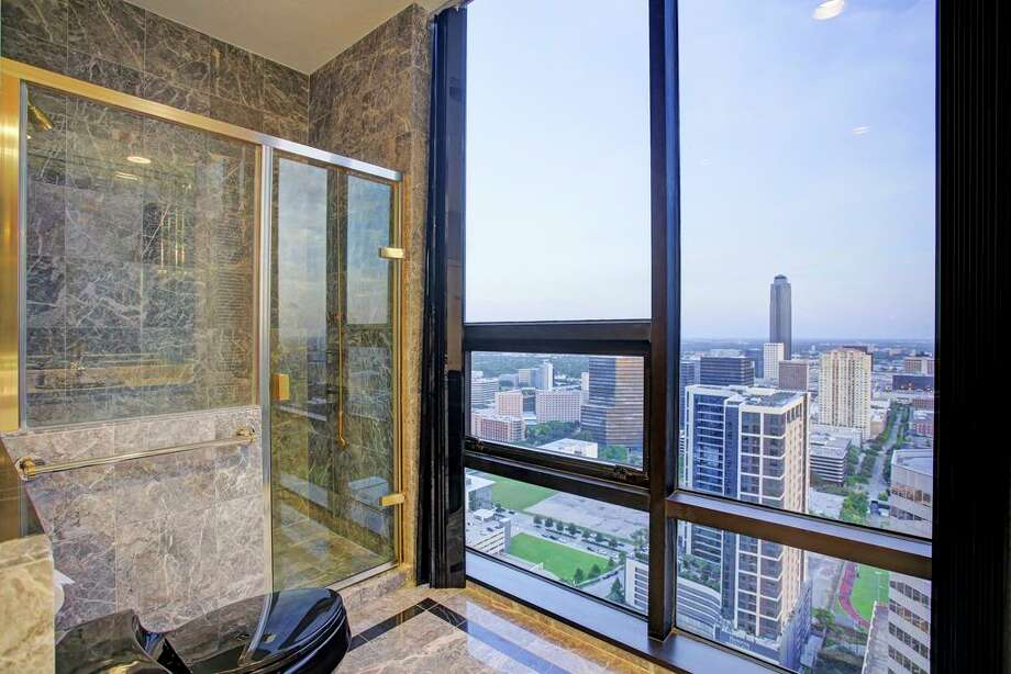 This 3-bedroom, 3.5-bathroom high-rise condominium is located at 5110 San Felipe St. in Houston, and lists for $1,695,000. Realtor: Mona Midani of John Daughtery, REALTORS. Photo: HAR