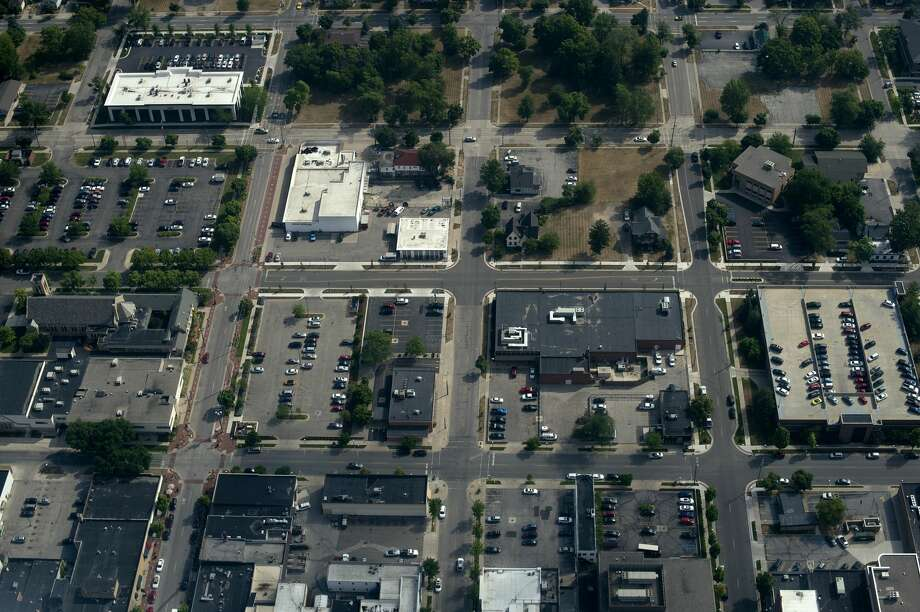 FILE — Aerial shot of the downtown Midland taken on July 7, 2016. Photo: Brittney Lohmiller/Midland Daily News