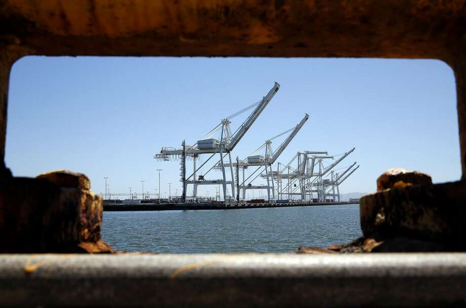 The Outer Harbor Terminal at the Port of Oakland had been home to Ports America, which has filed for bankruptcy. Photo: Connor Radnovich, The Chronicle