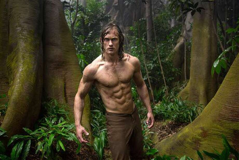 """This image released by Warner Bros. Entertainment shows Alexander Skarsgard from """"The Legend of Tarzan."""" (Jonathan Olley/Warner Bros. Entertainment via AP) Photo: Jonathan Olley"""