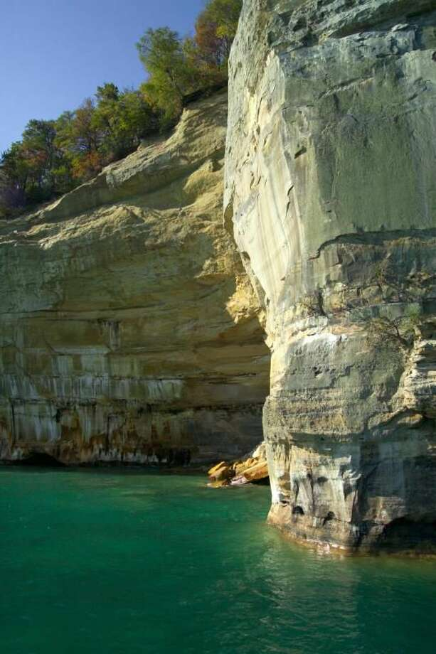 Pictured Rocks cliffs up close Photo: Dan Johnson/NPS Photo Via Pure Michigan Website