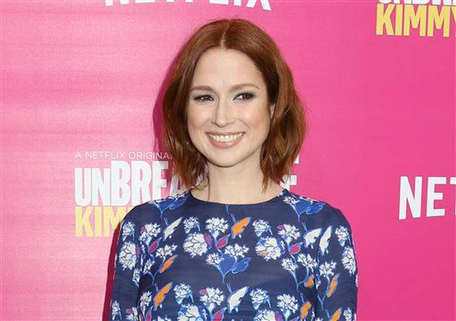 "FILE - In this March 30, 2016 file photo, Ellie Kemper attends the premiere of Netflix's ""Unbreakable Kimmy Schmidt"" Season 2 in New York. Scribner has announced it will publish a collection of humorous essays from Ellie Kemper, who plays the title character in the Netflix series, ""Unbreakable Kimmy Schmidt."" To be published in 2018, the as-yet-untitled book will feature stories from Kemper's life. (Photo by Greg Allen/Invision/AP, File) Photo: Greg Allen"