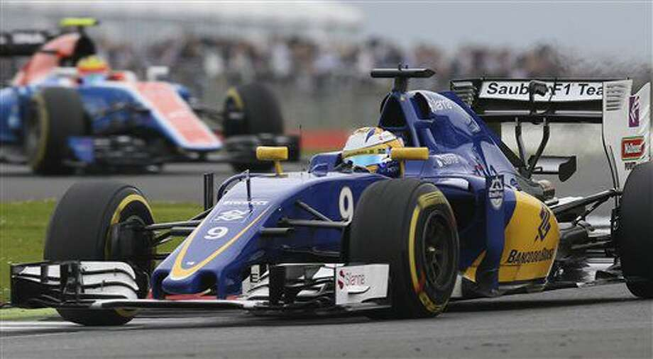 Sauber driver Marcus Ericsson of Sweden steers his car during the third free practice at the Silverstone racetrack, Silverstone, England, Saturday, July 9, 2016. The British Formula One Grand Prix will be held on Sunday July 10. (AP Photo/Luca Bruno) Photo: Luca Bruno