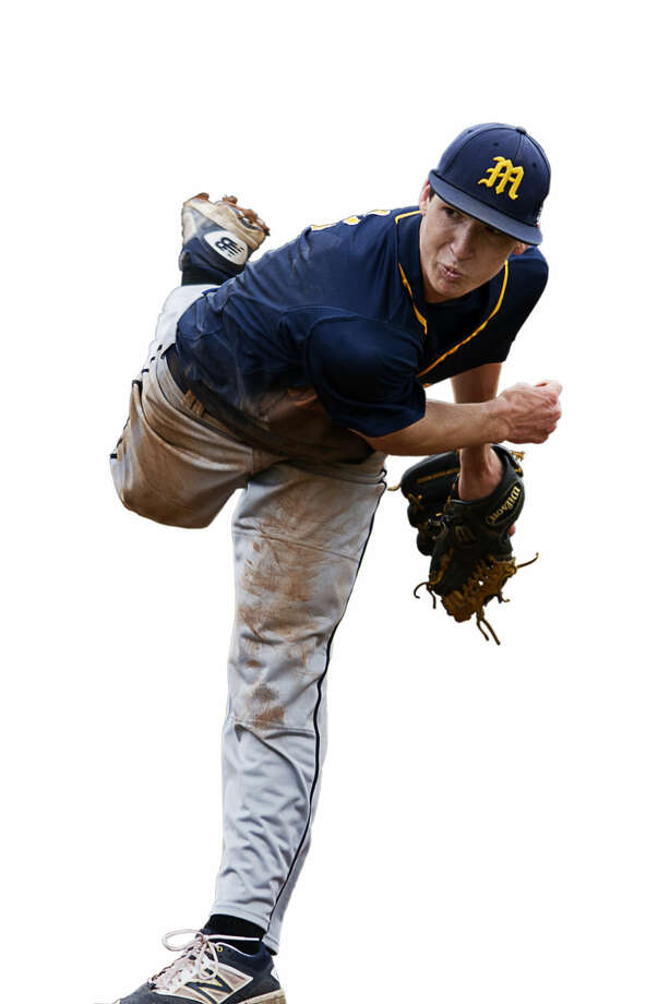 Jordan Patty, Pitcher/Infielder, Midland High Junior7-1 record with a 1.38 earned-run average81 strikeouts; .386 batting average, with 25 RBIs and 35 runs Photo: Erin Kirkland | Midland Daily News