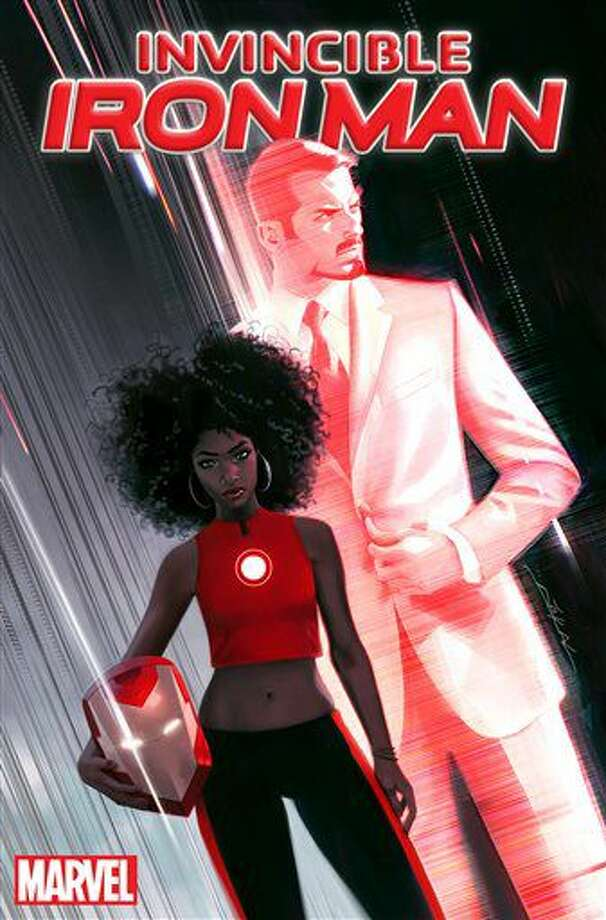 "This image released by Marvel Entertainment shows the cover of ""Invincible Ironman #1,"" featuring the character Riri Williams, a science genius, who will replace Tony Stark in the super hero role. The comic will be released in the fall. (Marvel Entertainment via AP) Photo: HONS"