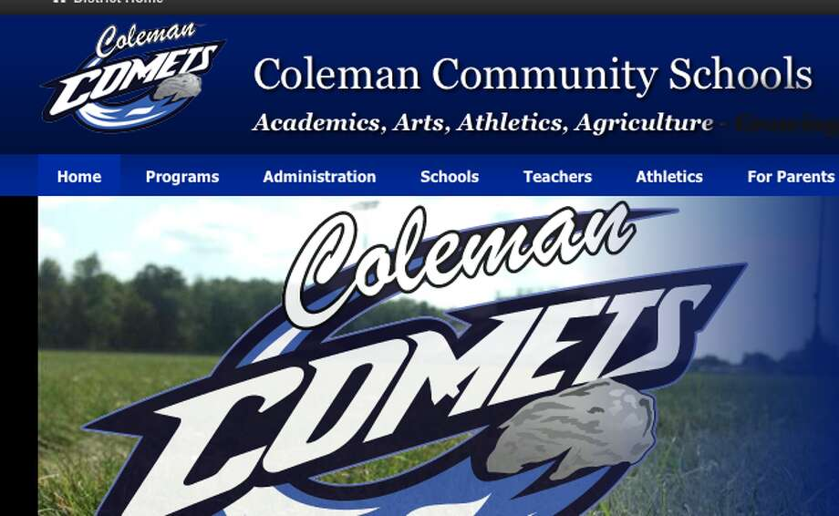 Coleman school district screen shot